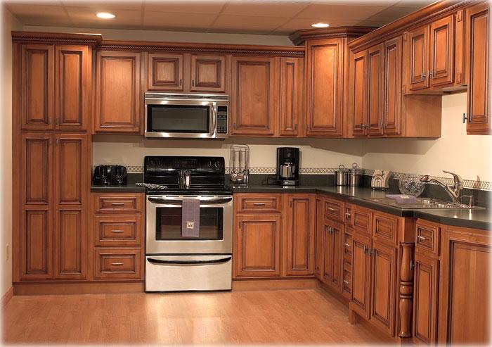 2 تصميمات و ديكورات مطابخ خشب و المنيوم حديثة للمطابخ الواسعة