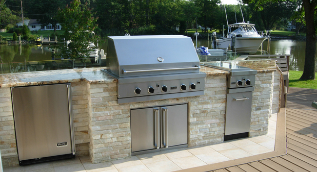 Home hearth outdoor living for Viking outdoor kitchen